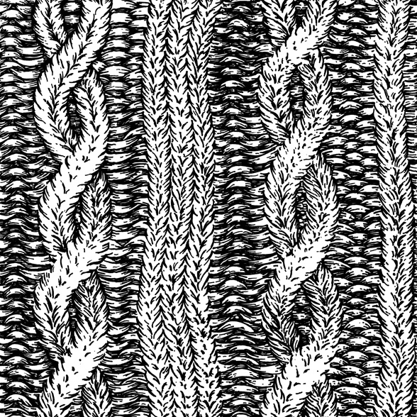 A. Kurtz cable knit pattern drawing and illustration by Chris O'Neal