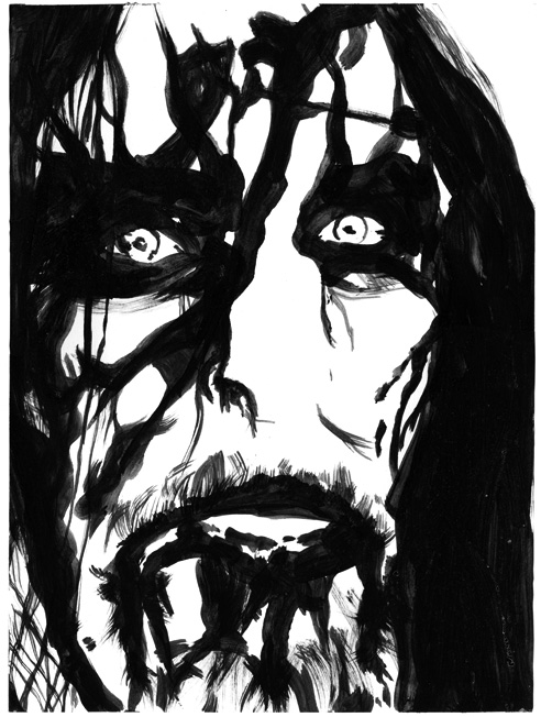 """""""gaahl"""" drawing and illustration by Chris O'Neal"""